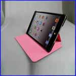 iPad Mini High Imitation 5-Folded Stand PU Case
