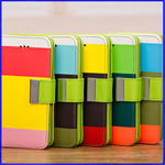 iPhone 5C rainbow wallet leather case