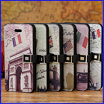 Apple IPhone 5C Famous View Printed Wallet Leather Case