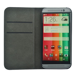 HTC hima book style wallet leather case