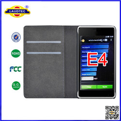 book style wallet leather case for Sony xperia E4