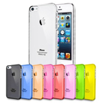 ULTRA THIN CRYSTAL CLEAR HARD CASE COVER FOR IPHONE 5S