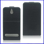 Ultra Slim Leather Flip Case for Sony Xperia E1
