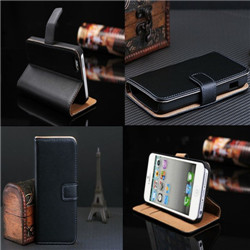 iPhone 6 Genuine real leather case flip leather wallet case
