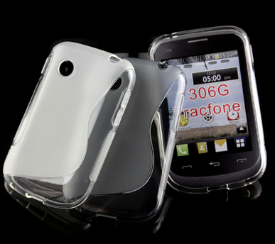 2015 NEW Arrival S line TPU Case for LG Tracfone 306G, Clear TPU Case for LG