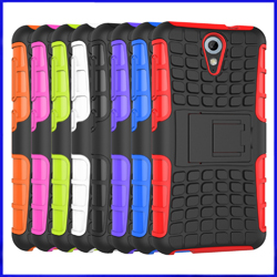 HTC Desire 620 Heavy Duty Hybrid Combo 2 in 1 Stand Cover Phone Case