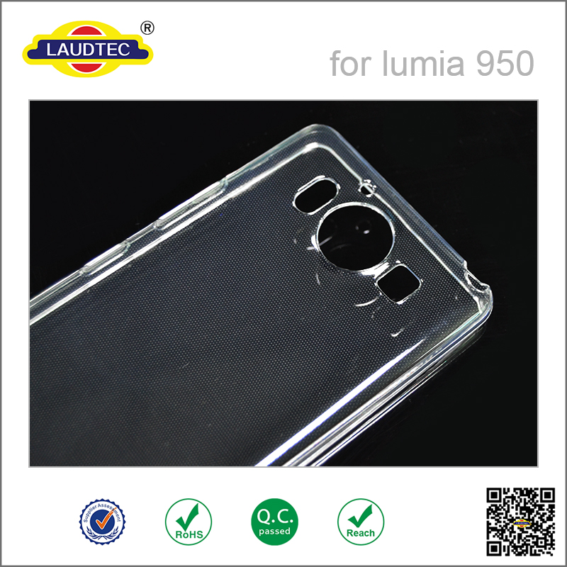 Lumia 950 Clear Transparent Crystal Soft TPU Silicone Gel Cover Case