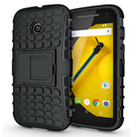 Armour Shockproof Case with Stand for Motorola Moto E2