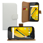 newest product leather wallet case for motorola moto e