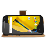 2015 newest high-end wallet case for Motorola Moto E2