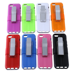 Unique shockproof PC+TPU 2in1 case with stand for Iphone5