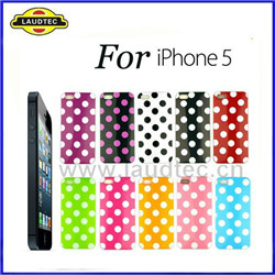 iPhone 5 Polka Dot  Back Cover TPU Gel Case