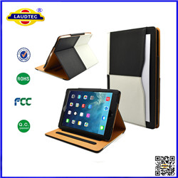 iPad Air2  BLACK & TAN stand Smart Magnetic Leather Case