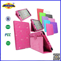 iPAD DIAMOND BLING SPARKLY LEATHER FLIP CASE