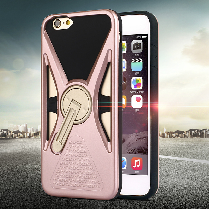 IPhone 6 plus rubber hybrid stand cases cover