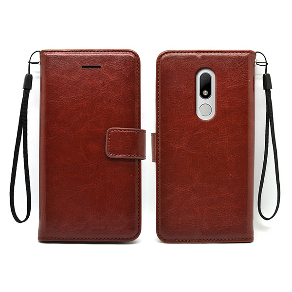 Huawei Moto M Factory price leather wallet case