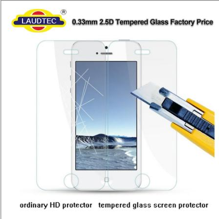 0.3mm 2.5D 9H clear tempered glass screen protector for iphone 7
