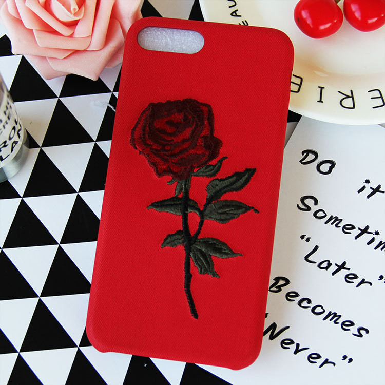 Factory Wholesale Embroidery Case for iPhone 8 Plus Phone Cover