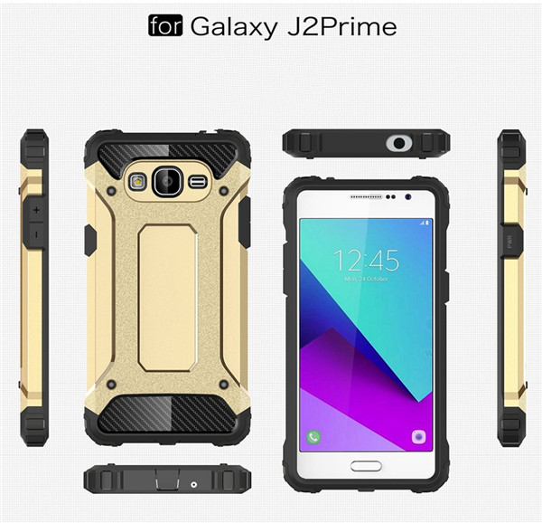 2 In 1 Shockproof Cover Case For Sumsung Galaxy J2 Prime