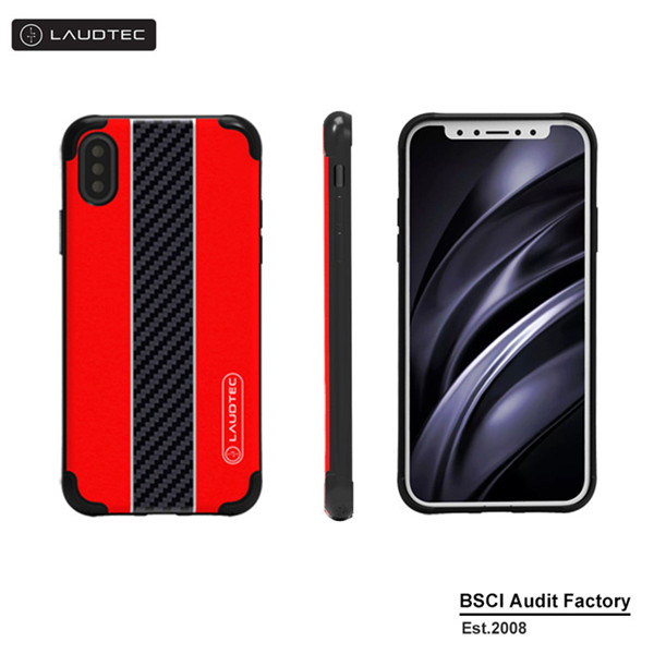 Shockproof IML Carbon Fiber Mobile Phone Case For Iphone X