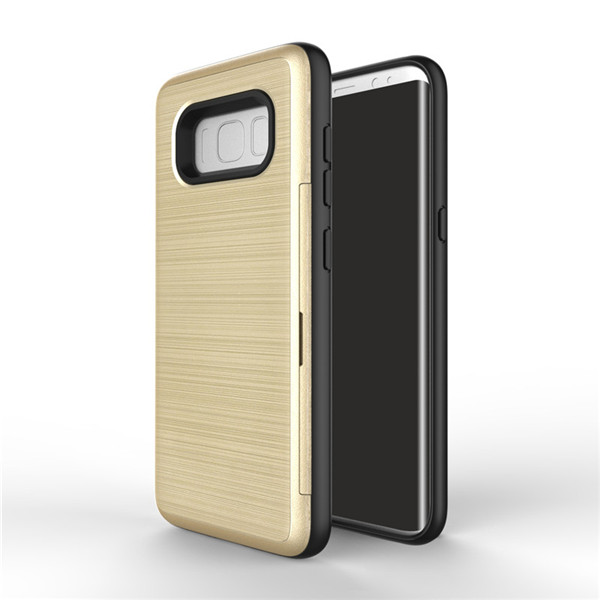 Metallic gold card slot case for Galaxy S8