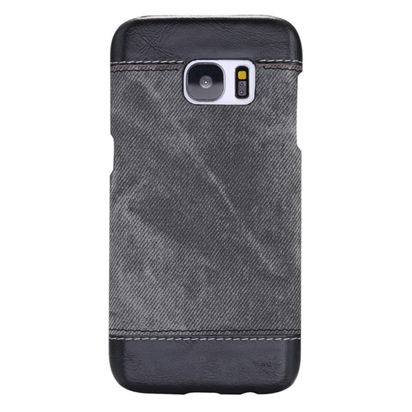 Ultra Thin PU Leather Jean Stripe Hybrid Case for Samsung Galaxy S7