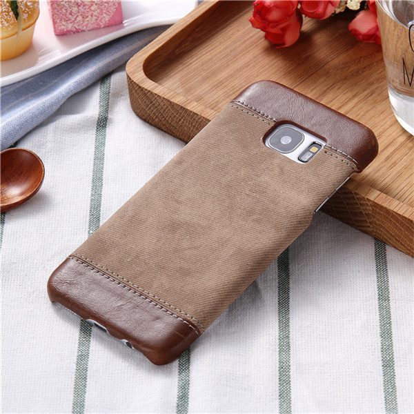Leather Cowboy Jeans Texture Back Cover For Samsung Galaxy S7 EDGE