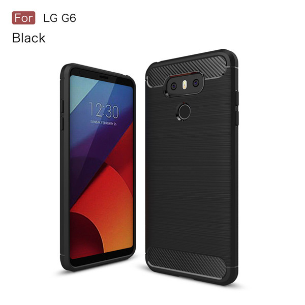 Carbon fiber tpu case for Lg G6