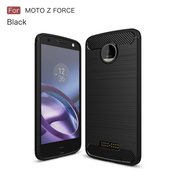 Chinese Manufacturer Carbon Fiber Case For Moto Z Force Tpu