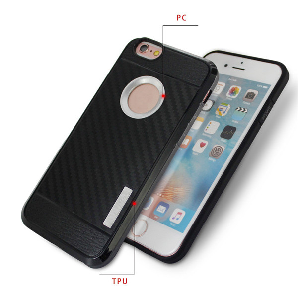 Carbon Fiber Tpu Back Case Cover for Iphone 6 6S