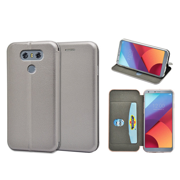 2017 wallet leather flip cover for LG G6 full curved case