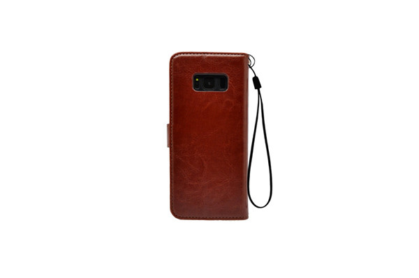 Slot Bookstyle Flip Leather Case for S8