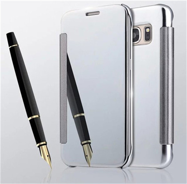 electraplated transparent tpu leather case for Galaxy S8