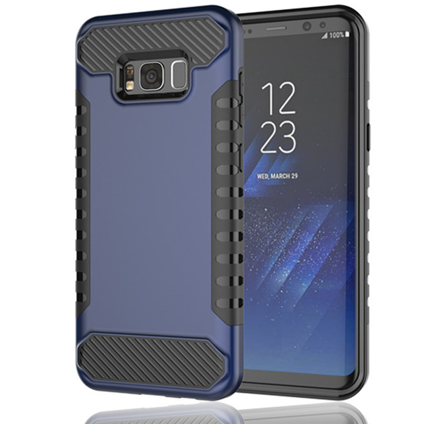 2 in 1 Rubber PC TPU Shockproof Armor Case for Galaxy S8