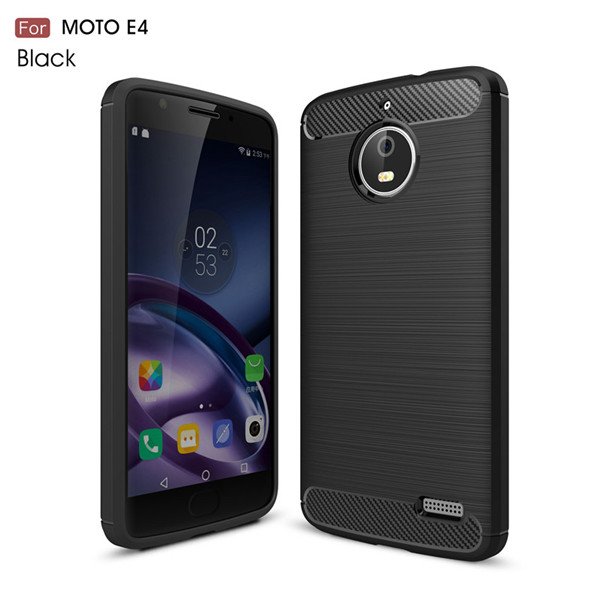 Carbon Tpu Case Cover For Motorola Moto E4