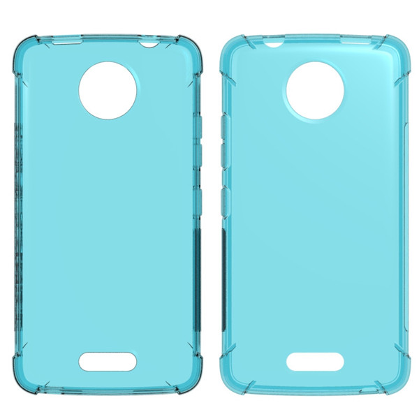 Clear Transparent TPU Case For Moto C plus With Shockproof Corner
