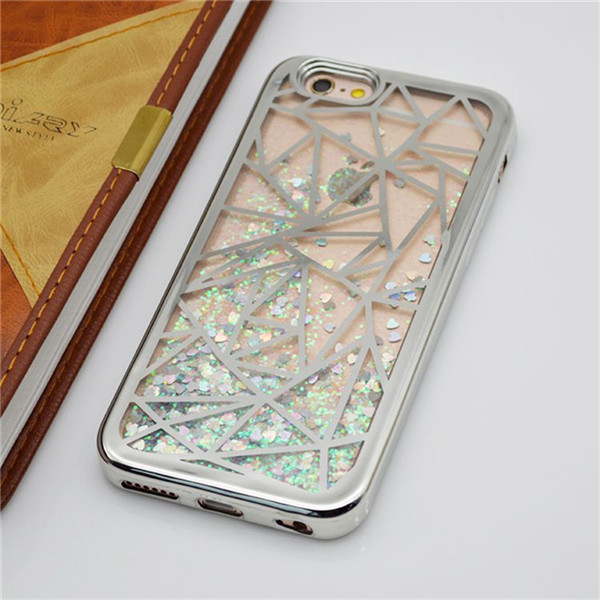 Electroplating Metal Frame Tpu Pc  Case  For Iphone 6