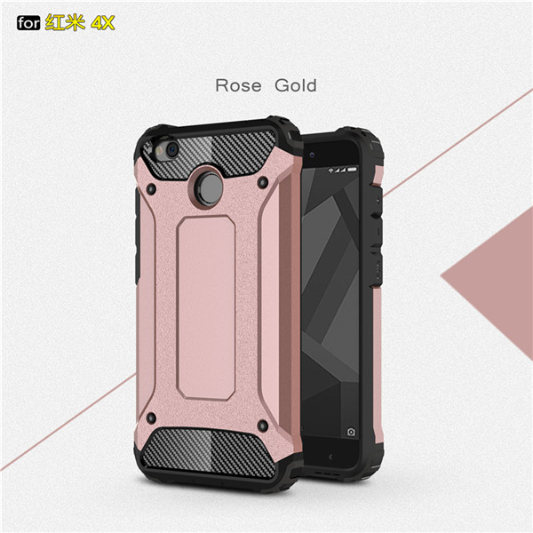 Heavy Duty Hybrid Hard Back Cover For Redmi Note 4X
