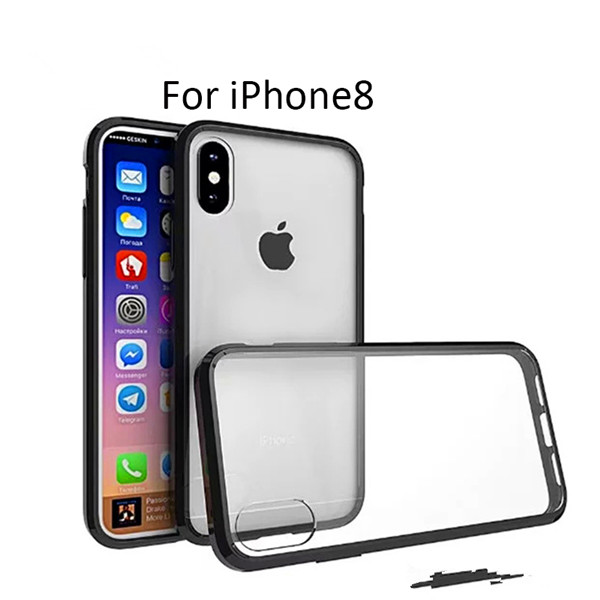 pc tpu shockproof back case for iphone 8