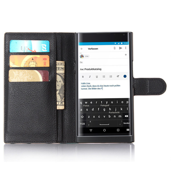 Blackberry Priv pu leather wallet phone case