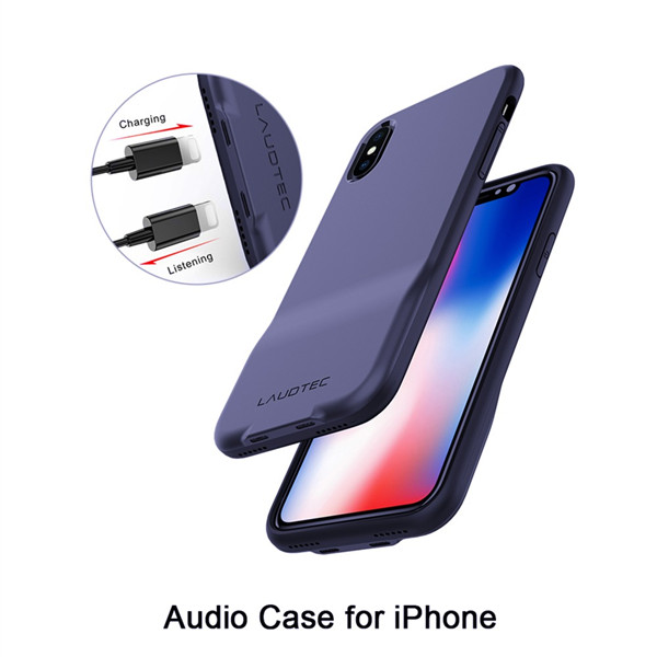Two Pin Protective Audio Case for iPhone X