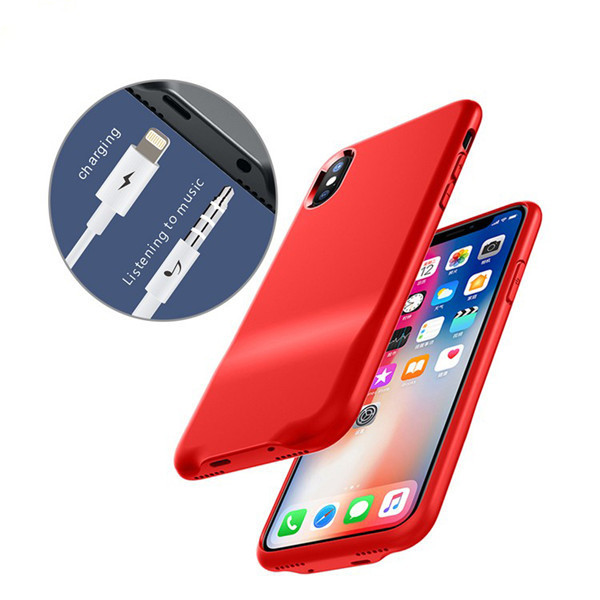 Charging and Earphone Audio Case for iPhone X