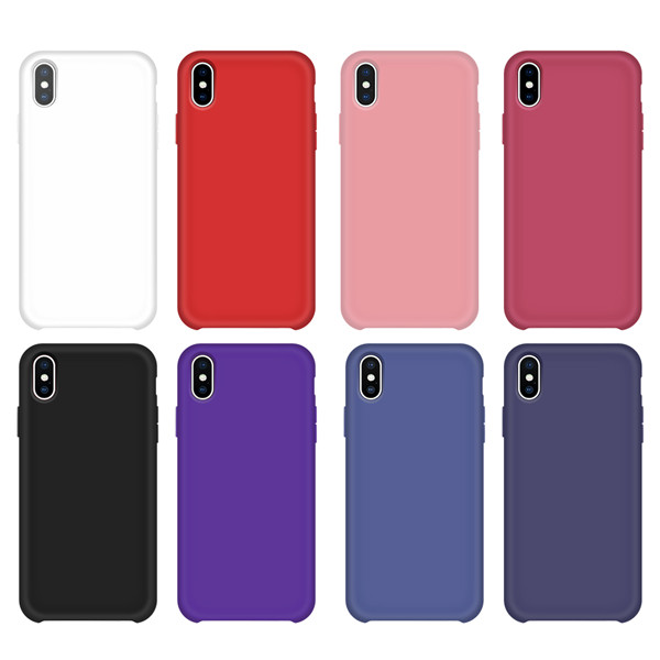 Liquid Silicone Case for iPhone xs max with Microfiber Lining