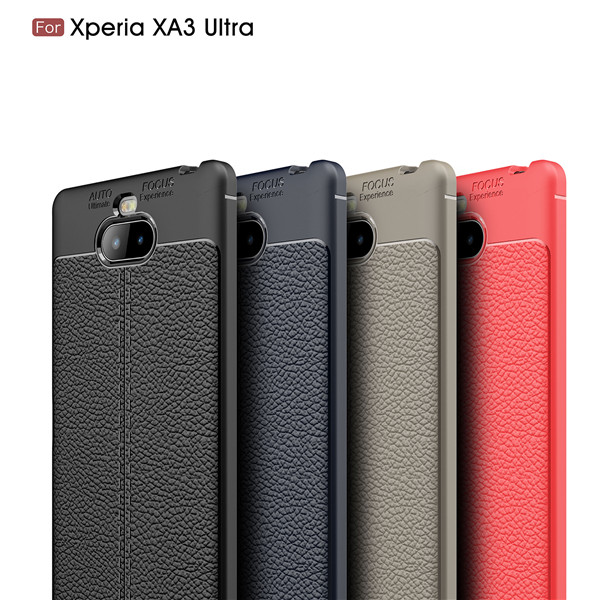 Litchi Leather Pattern Premium TPU Case for Xperia xa3