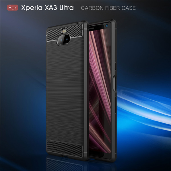 Hot selling carbon fiber phone case for Sony XA3 Ultra