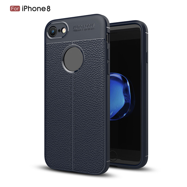2018 Business Carbon Fiber Mobiles Cover TPU Case For 8plus
