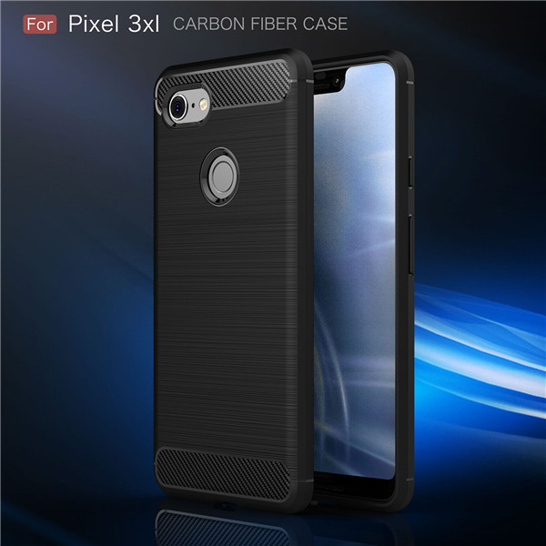 New Carbon Fiber Soft TPU Case For Google Pixel 3xl