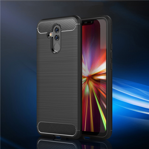 Carbon Fiber Design Soft TPU Back Cover for Mate 20 Lite
