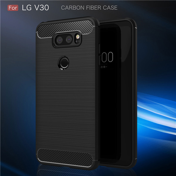 New disgn shockproof carbon fiber case for LG V30