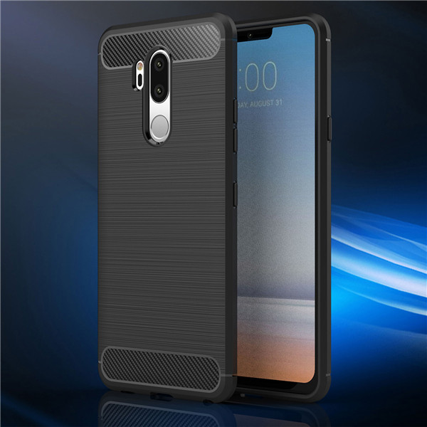 2018 Hot Selling Carbon Fiber Rubber Mobile Phone Case TPU Case For LG G7